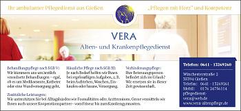 Alten- und Krankenpflegedienst VERA