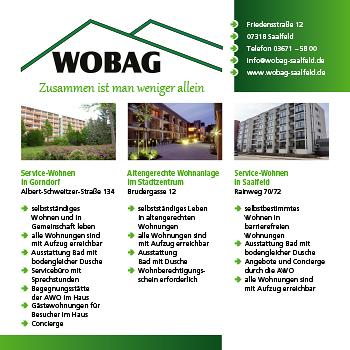 WOBAG – Wohnungsbau- und Verwaltungsgesellschaft  Saalfeld/Saale mbH