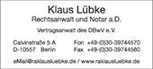 Klaus Lübke Rechtsanwalt und Notar a.D.